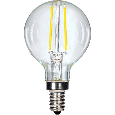 Satco 25W Equivalent Warm White G16.5 LED Decorative Light Bulb