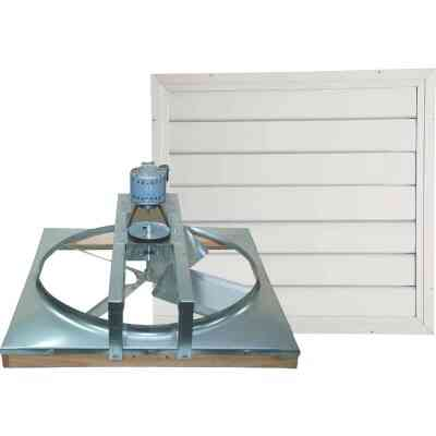 """Ventamatic Cool Attic 30"""" Belt Drive 2000 to 3000 sq ft Whole House Fan"""