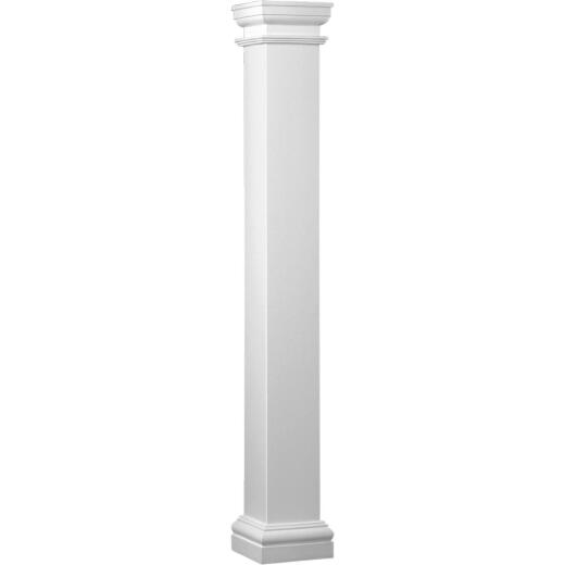 Crown Column Duralite 8 In. x 10 Ft. Smooth White Fiberglass Column