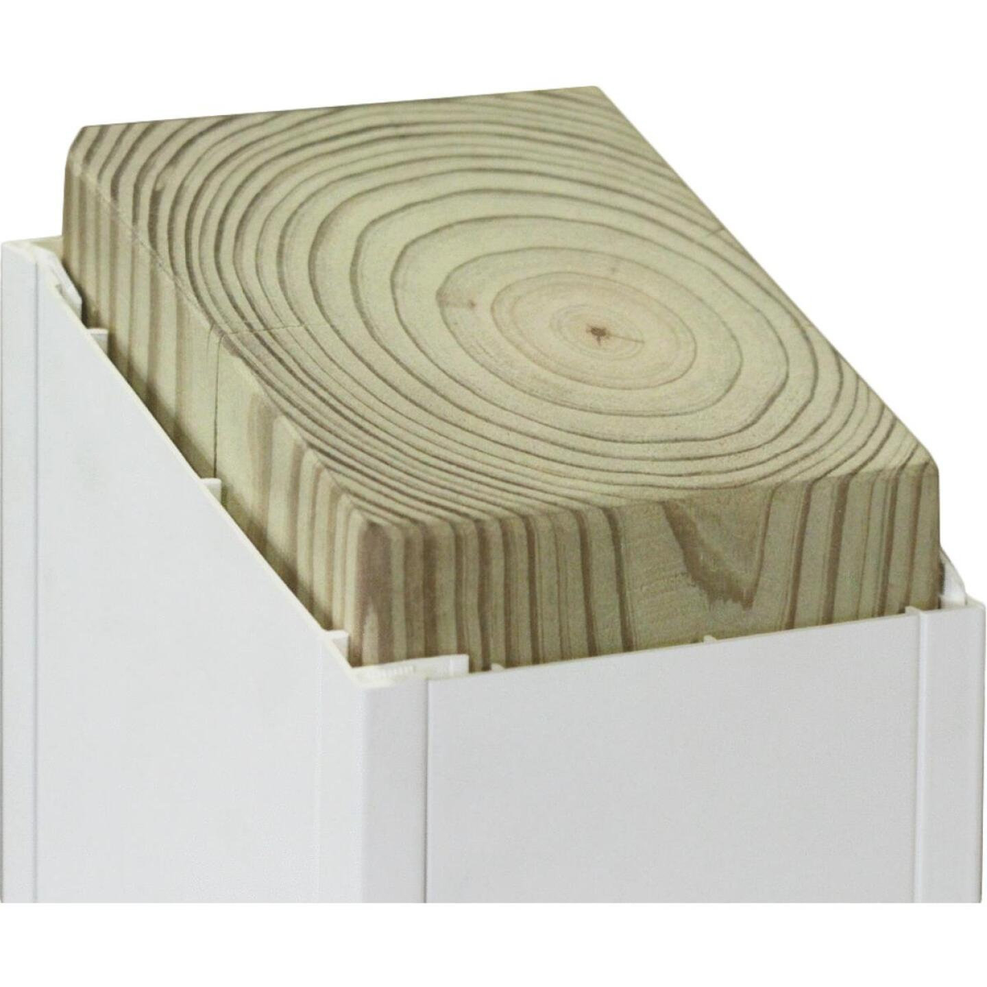Beechdale 6 In. W x 6 In. H x 120 In. L White PVC Smooth Post Wrap Image 2