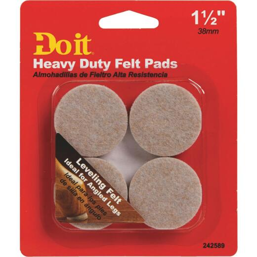 Do it Leveling 1-1/2 In. Round Self Adhesive Furniture Glide,(4-Pack)