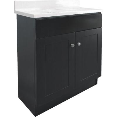 Design House Espresso 30 In. W x 31-1/2 In. H x 18 In. D Combo Vanity with Cultured Marble Top