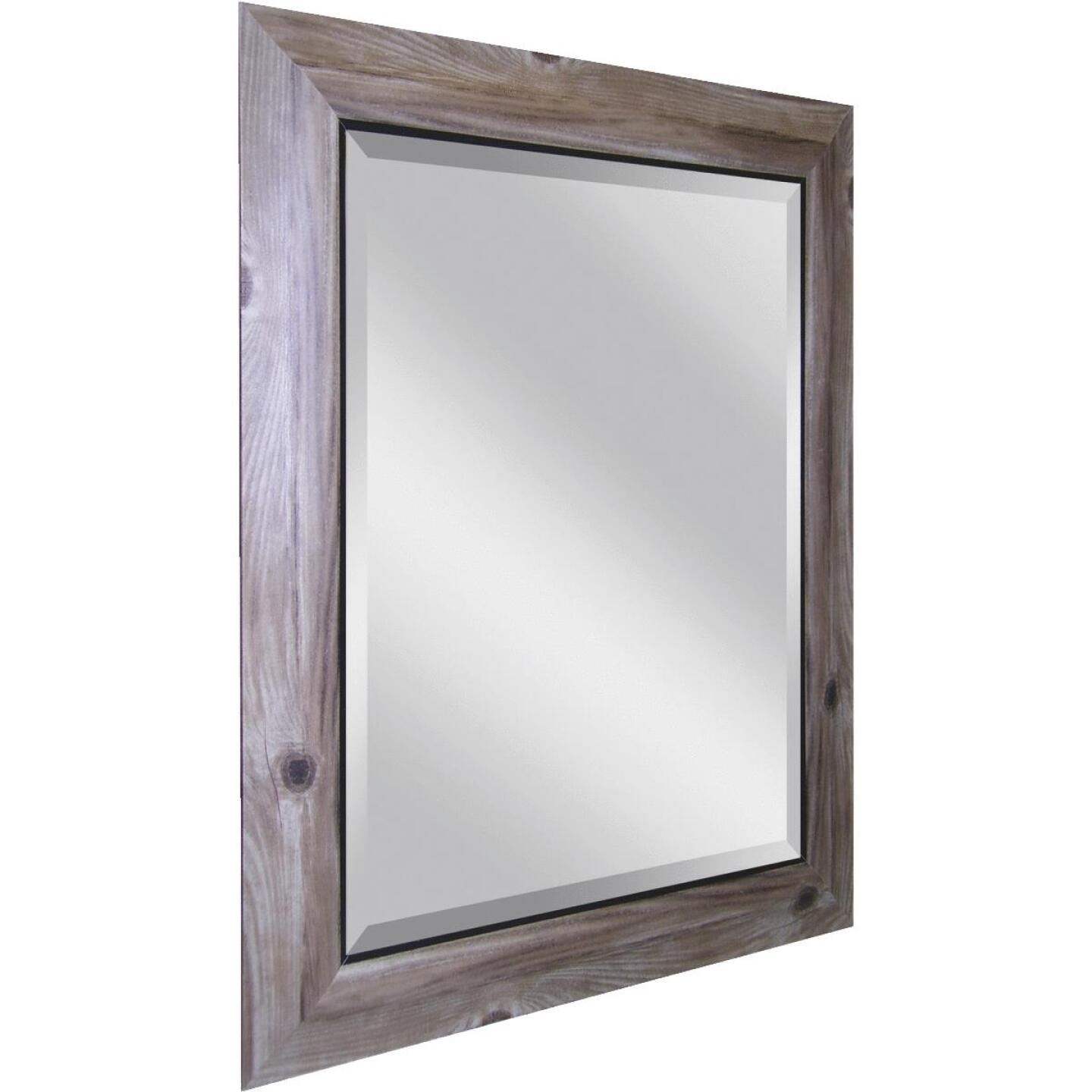 Erias Home Designs 21.5 In. W. x 25.5 In. H. Distressed Bark-Look Framed Wall Mirror Image 1