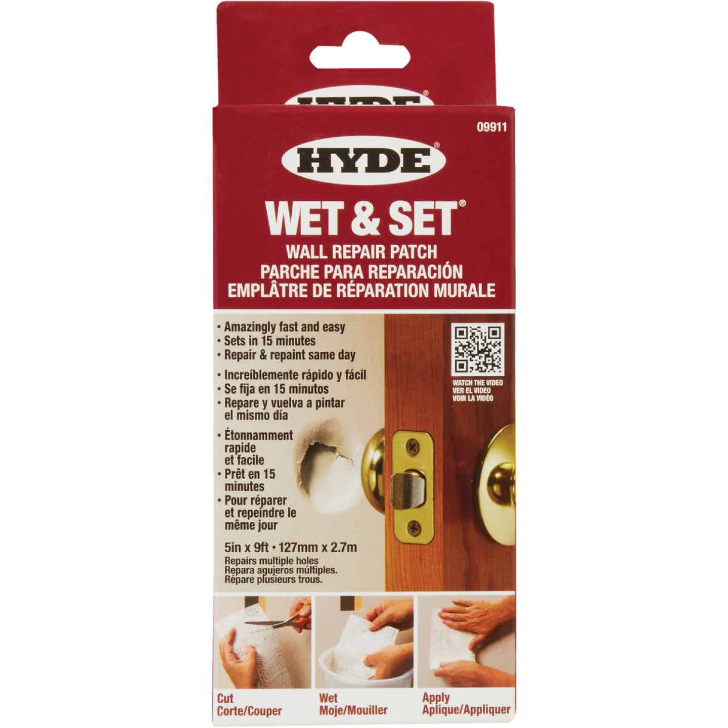 Hyde Wet & Set 5 In. x 9 Ft. Wall & Ceiling Drywall Patch Image 2