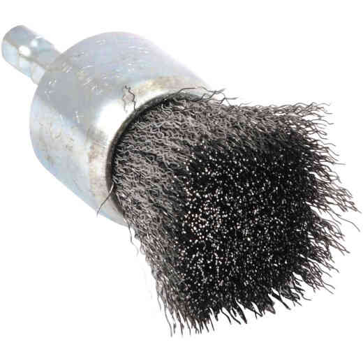Forney 1 In. Hex .012 In. Drill-Mounted Wire Brush