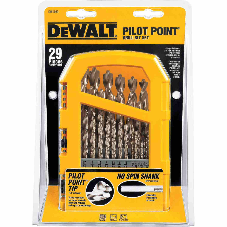 DeWalt 29-Piece Gold Ferrous Pilot Point Drill Bit Set, 1/16 In. thru 9/32 In. Image 4