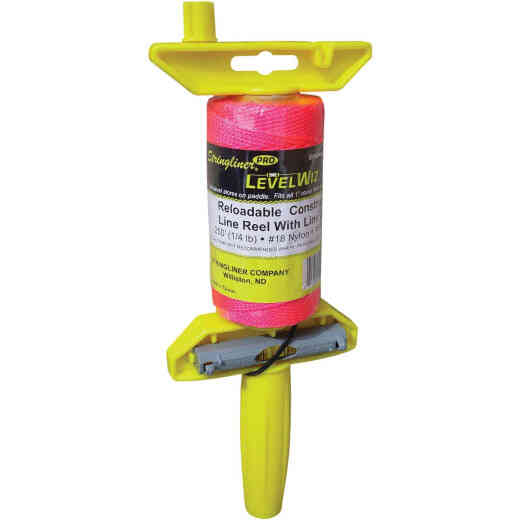 Stringliner LevelWiz 270 Ft. Fluorescent Pink Twisted Nylon Mason Line Reel