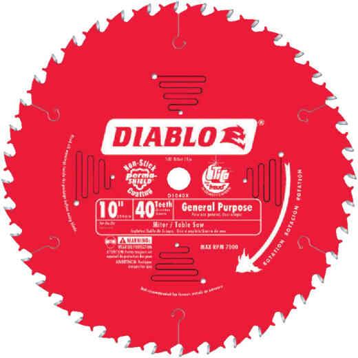 Diablo 10 In. 40-Tooth General Purpose Circular Saw Blade