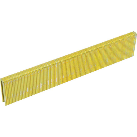 Porter Cable 18-Gauge Galvanized Narrow Crown Finish Staple, 1/4 In. x 1/2 In. (5000 Ct.)