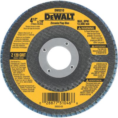 DeWalt 4-1/2 In. 120-Grit Type 29 High Performance Angle Grinder Flap Disc