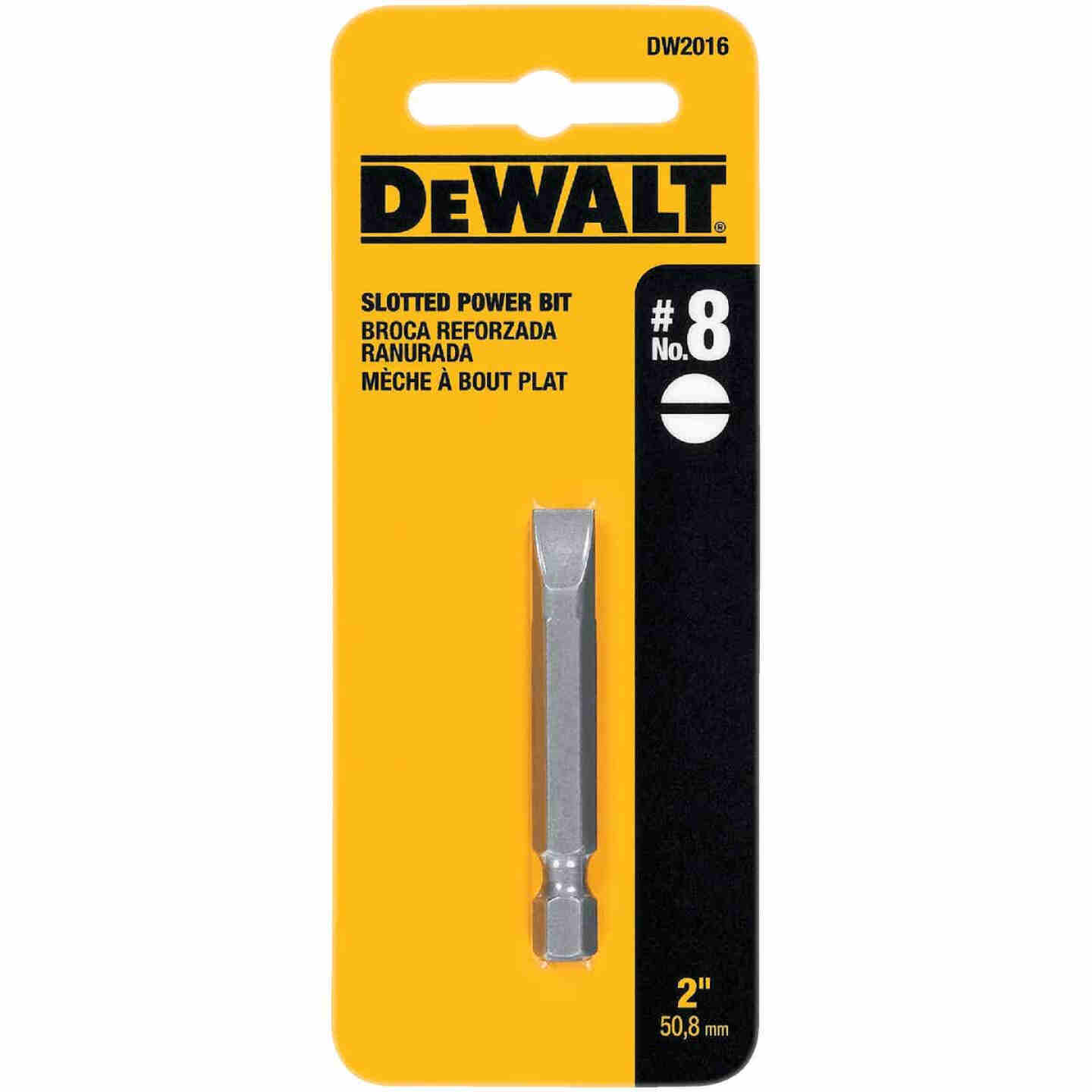 DeWalt Slotted #8 2 In. Power Screwdriver Bit Image 2