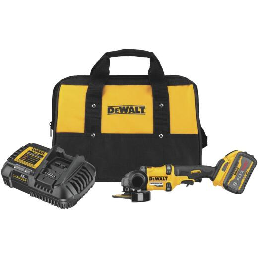 DeWalt Flexvolt 60 Volt MAX Lithium-Ion Brushless 4-1/2 In. - 6 In. Cordless Angle Grinder with Kickback Brake Kit