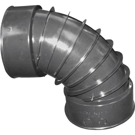 Advanced Basement 4 In. 90 deg Plastic Corrugated Elbow