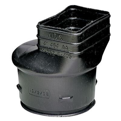 Advanced Basement 2 In. X 3 In. X 4 In. Polyethylene Corrugated to Downspout Barb X Female Adapter