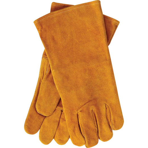 Home Impressions Men's 1 Size Fits All Leather Hearth Glove