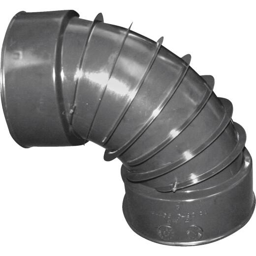 Advanced Basement 3 In. 90 deg Plastic Corrugated Elbow