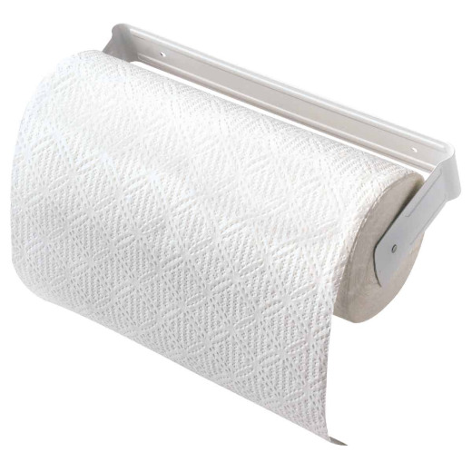Decko White Metal Paper Towel Holder