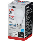 Satco 75W Equivalent Natural Light A19 Medium Dimmable LED Light Bulb Image 3