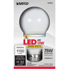 Satco 75W Equivalent Warm White A19 Medium Dimmable LED Light Bulb Image 1