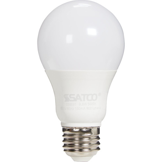 Satco 60W Equivalent Daylight A19 Medium LED Light Bulb (4-Pack)