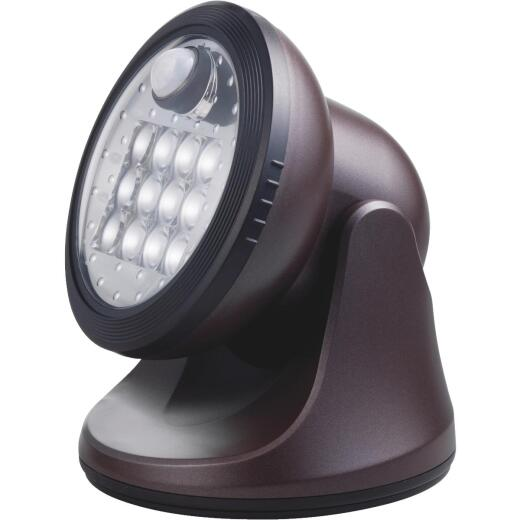 Light It Bronze 275 Lm. LED Battery Operated Security Light Fixture