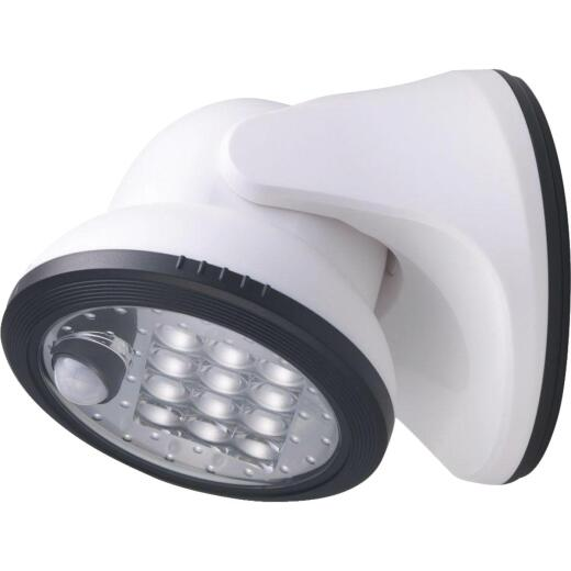 Light It White 275 Lm. LED Battery Operated Security Light Fixture