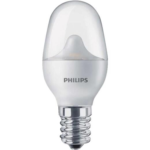 Philips 7W Equivalent Soft White C7 Candelabra LED Night-Light Bulb