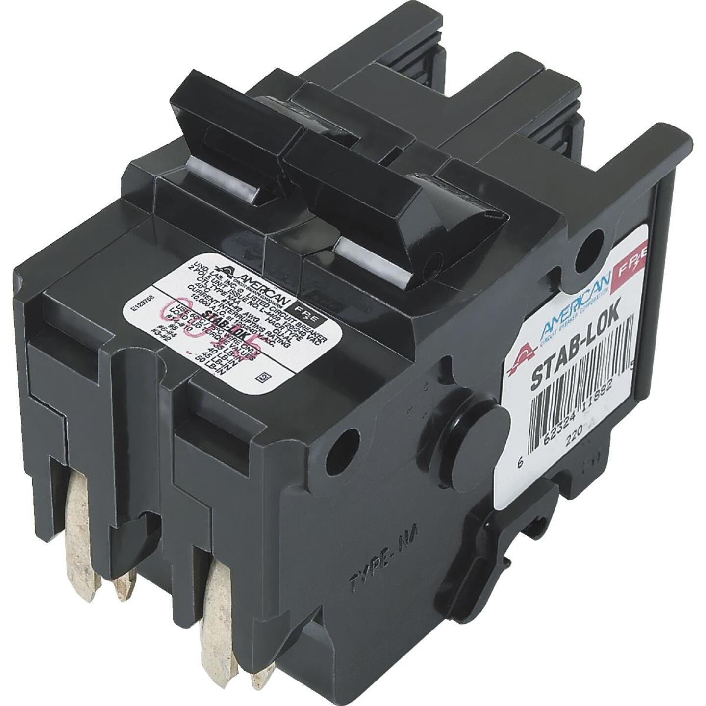 Connecticut Electric 50A Double-Pole Standard Trip Packaged Replacement Circuit Breaker For Federal Pacific Image 1