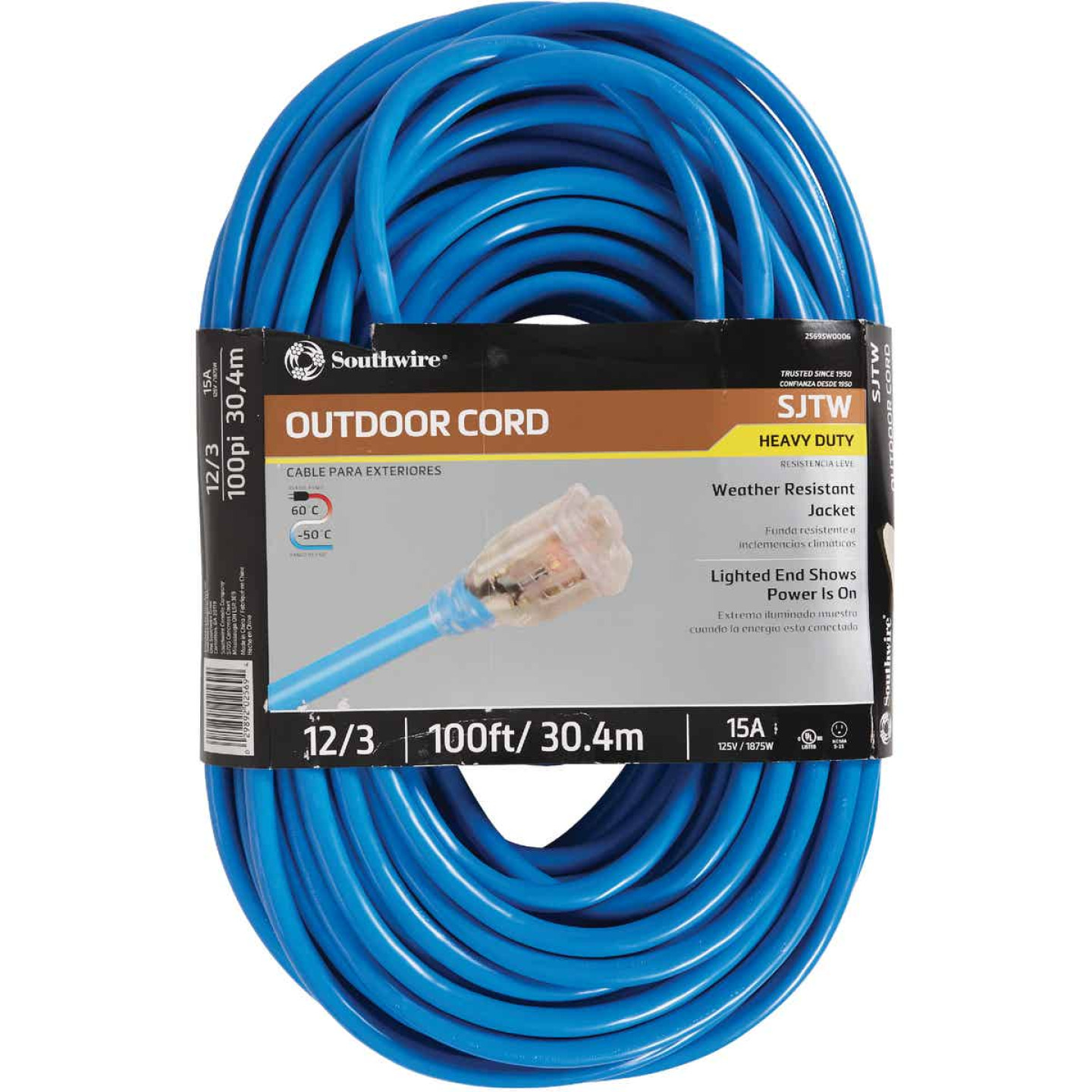 Coleman Cable ColdFlex 100 Ft. 12/3 Cold Weather Extension Cord Image 1