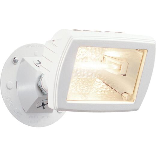 Designers Edge White Mini Halogen Floodlight Fixture