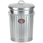 Behrens 20 Gal. Silver Trash Can with Lid Image 1