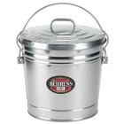 Behrens 10 Gal. Silver Galvanized Garbage Trash Can Pail with Lid Image 1