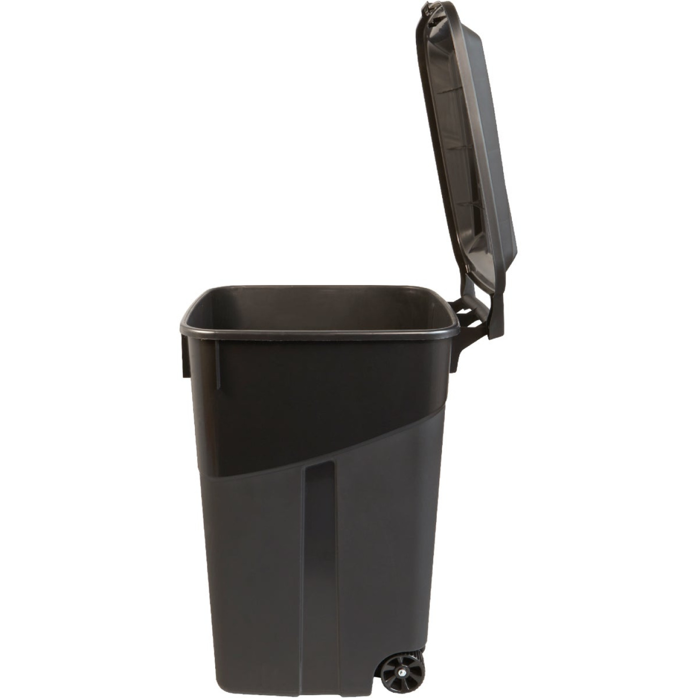 United Solutions Rough and Rugged 45 Gal. Wheeled Trash Can with Attached Lid Image 5