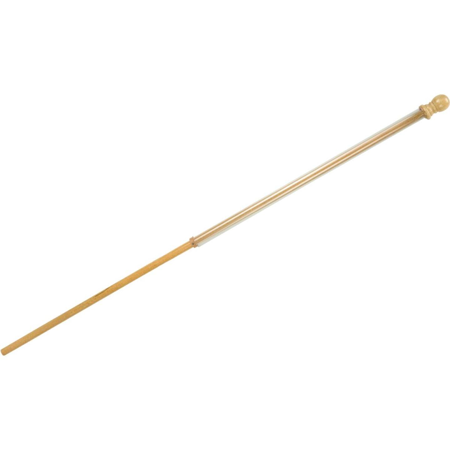 Evergreen 56 In. x 1 In. Wood Anti-Wrap Flag Pole Image 2