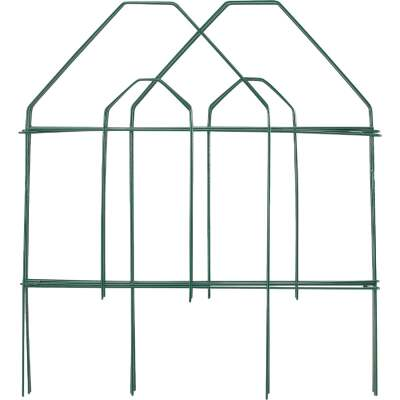 Best Garden 8 Ft. Green Galvanized Wire Folding Fence