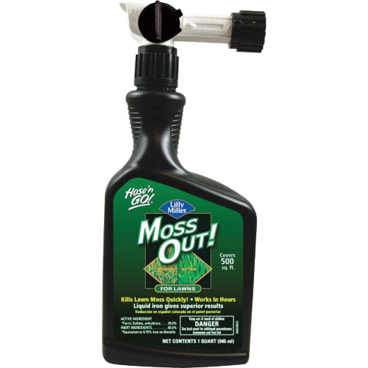 Lilly Miller MOSS OUT! 1 Qt. Ready To Spray Moss & Algae Killer
