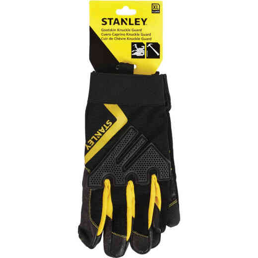 Stanley Men's XL Goatskin Leather Mechanic High Performance Glove