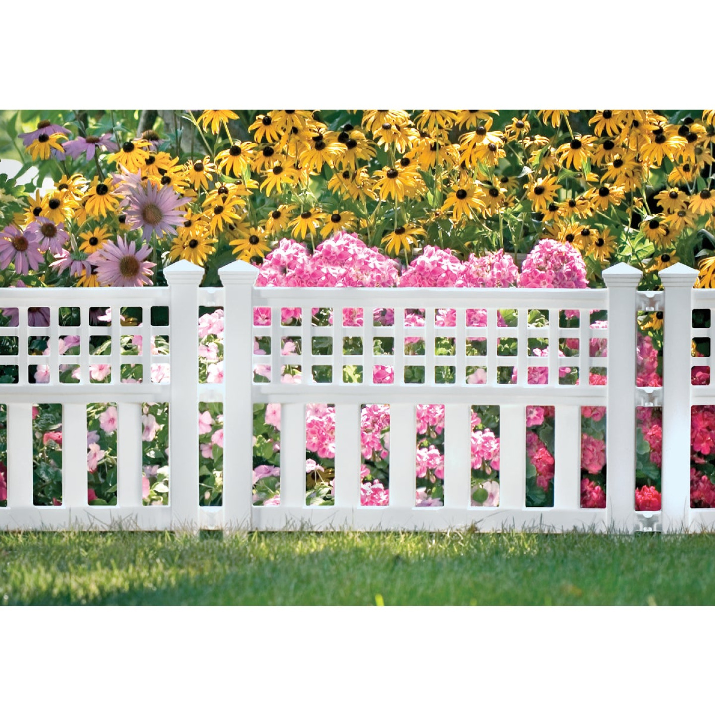 Suncast 20 1/2 In. H x 24 In. L Resin Decorative Border Fence Image 1