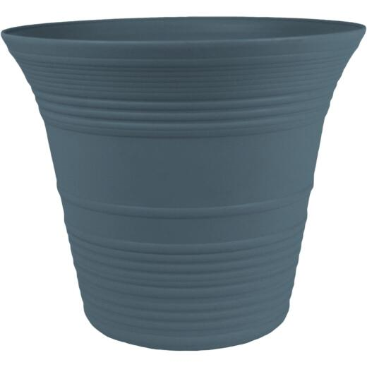 Myers Sedona 9 In. Dia. Polypropylene Slate Blue Planter