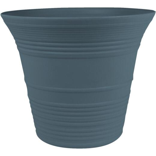 Myers Sedona 12 In. Dia. Polypropylene Slate Blue Planter