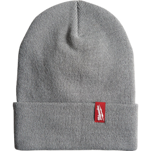 Milwaukee Gray Cuffed Beanie Acrylic Sock Cap
