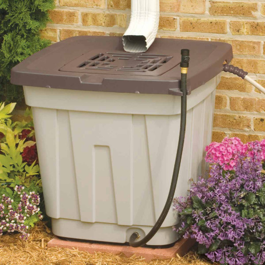 Suncast 50 Gal. Tan Durable Resin Rain Barrel