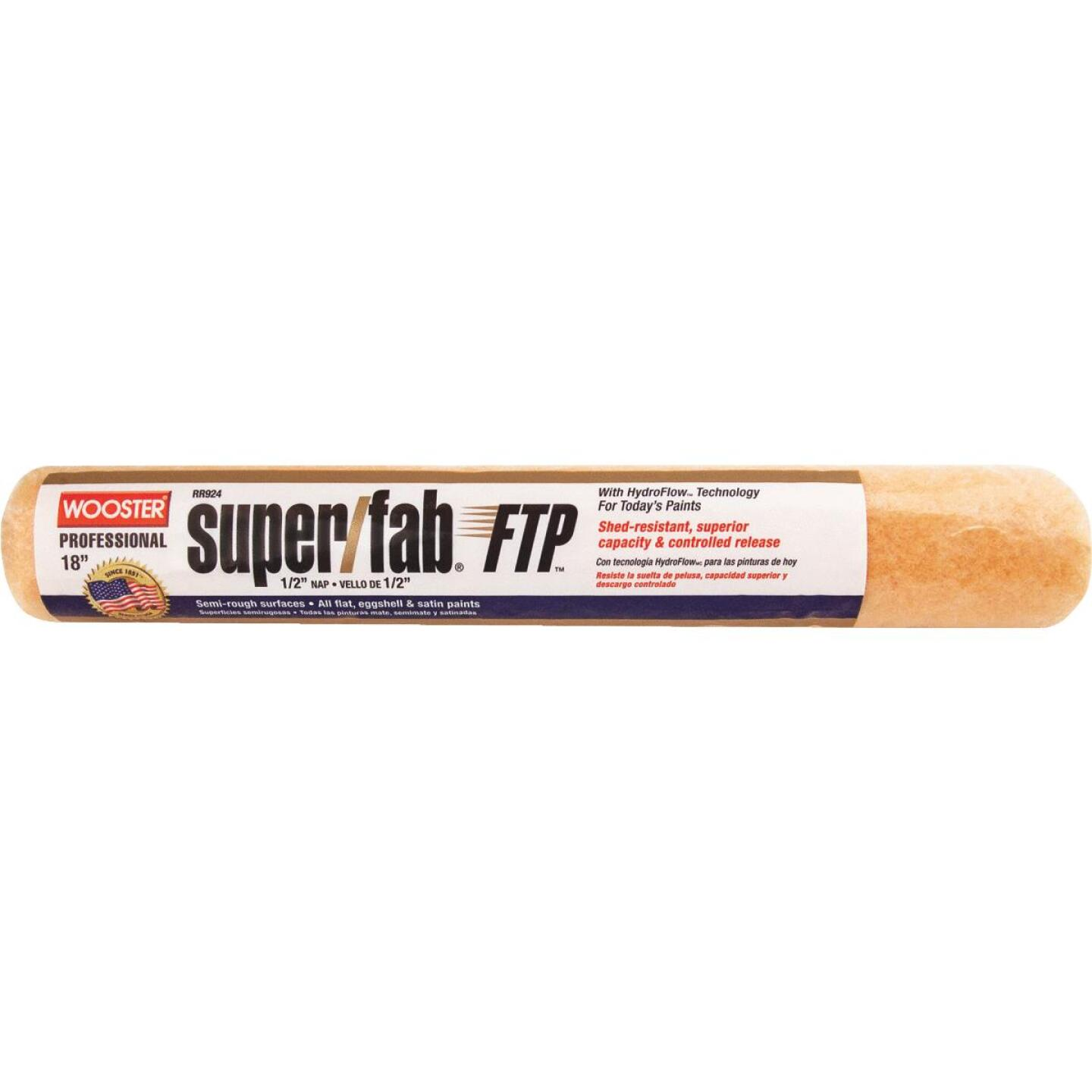 Wooster Super/Fab FTP 18 In. x 1/2 In. Knit Fabric Roller Cover Image 1