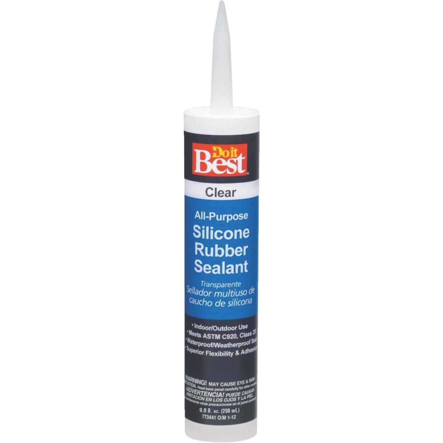 Do it Best 9.8 Oz. All-Purpose Silicone Sealant, Clear Image 1
