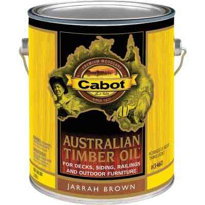 Cabot Australian Timber Oil Translucent Exterior Oil Finish, Jarrah Brown, 1 Gal.