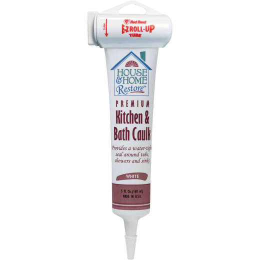 Red Devil 5 Oz. White Kitchen & Bath Caulk
