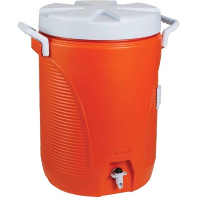 Rubbermaid 5 Gal. Orange Water Jug with Carry Handle