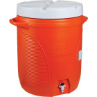 Rubbermaid 10 Gal. Orange Water Jug with In-Molded Handle Image 1