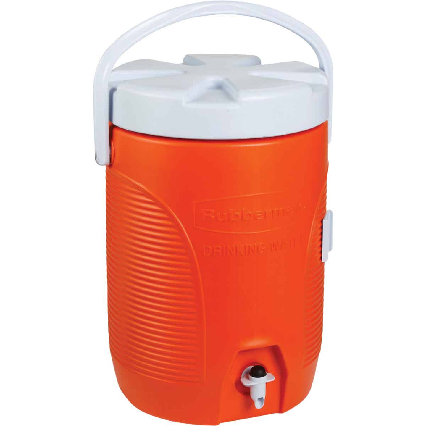 Rubbermaid 3 Gal. Orange Water Jug with Swing-Top Handle Image 1