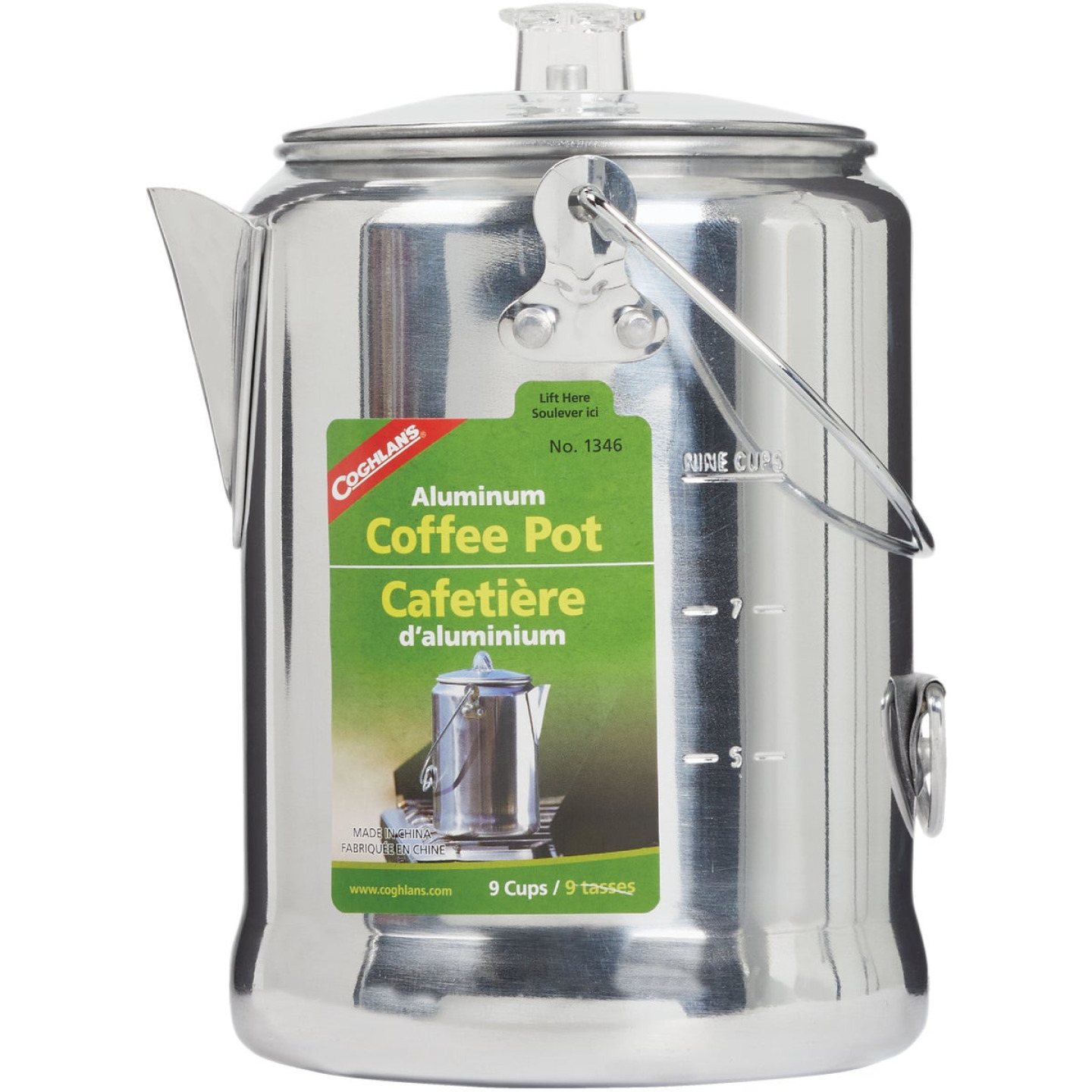 Coghlans 9-Cup Aluminum Camping Coffee Pot Image 2
